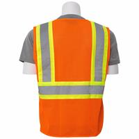 Safety Vest ERB S383P Orange back