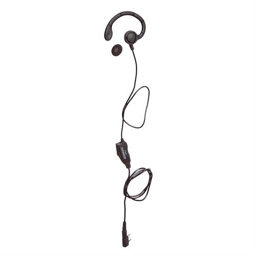 Kenwood KHS-31 C-Ring Earbud Hanger with PTT and Clip Microphone